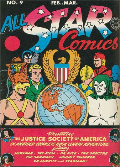 All Star Comics 9 A Feb 1942 Comic Book By Dc