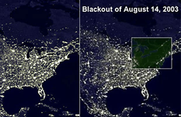 Map   The Northeast Blackout of 2003   Complex