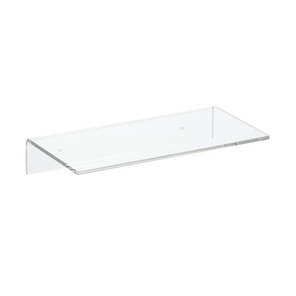 Single Acrylic Wall Shelves   The Container Store Q   A