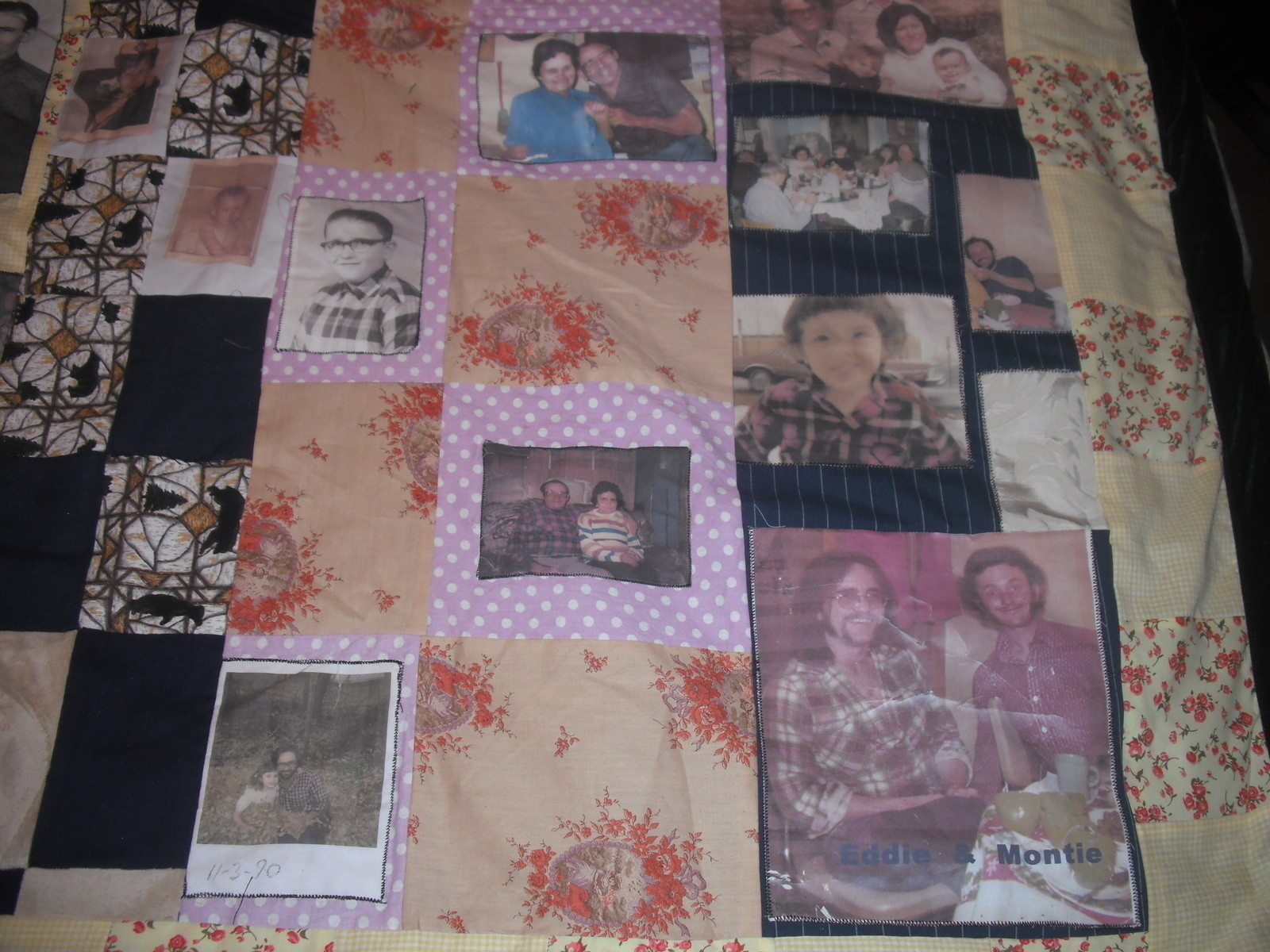 Family Memory Blanket 183 A Patchwork Quilt 183 Art