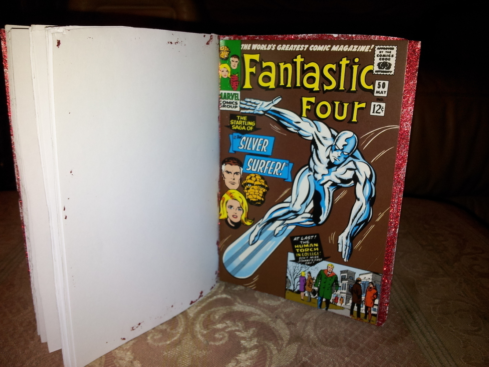 Comic Book Notebook 183 A Recycled Book 183 Decorating