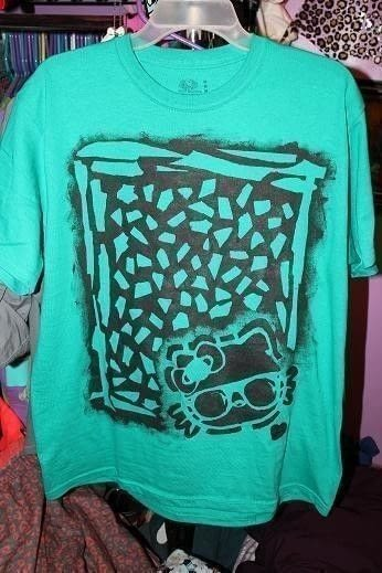 Homemade Leopard Hello Kitty Shirt 183 How To Paint A T