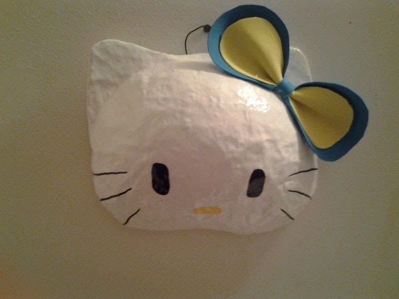 Hello Kitty Mask 183 A Mask 183 Papercraft And Papier M 226 Ch 233 On
