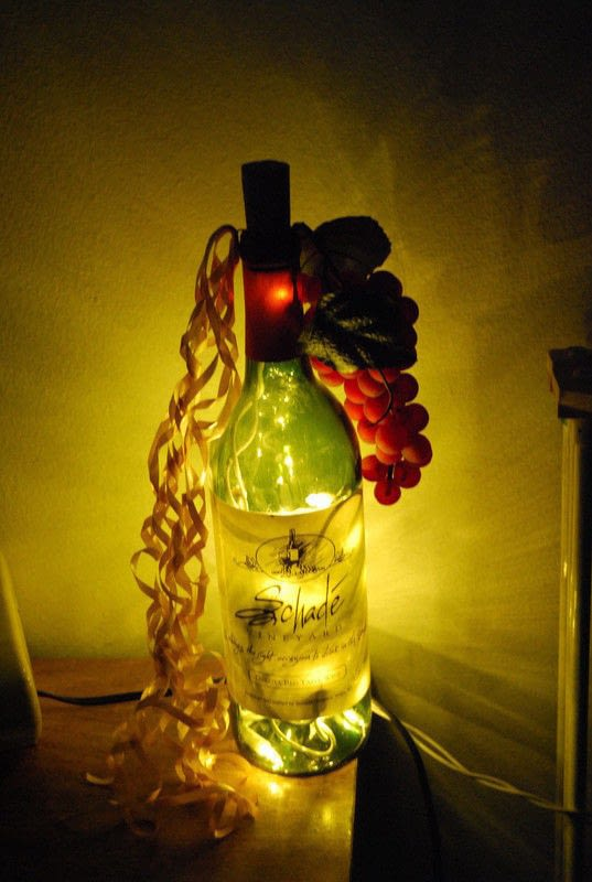 Light Up Wine Bottle 183 A Bottle Lamp 183 Decorating On Cut