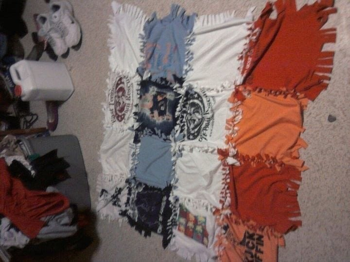 My T Shirt Blanket 183 A T Shirt Quilt 183 No Sew On Cut Out