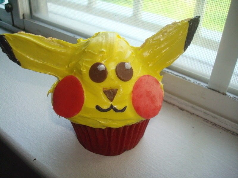 Pikachu Cupcake 183 How To Decorate A Cartoon Cake 183 Recipe