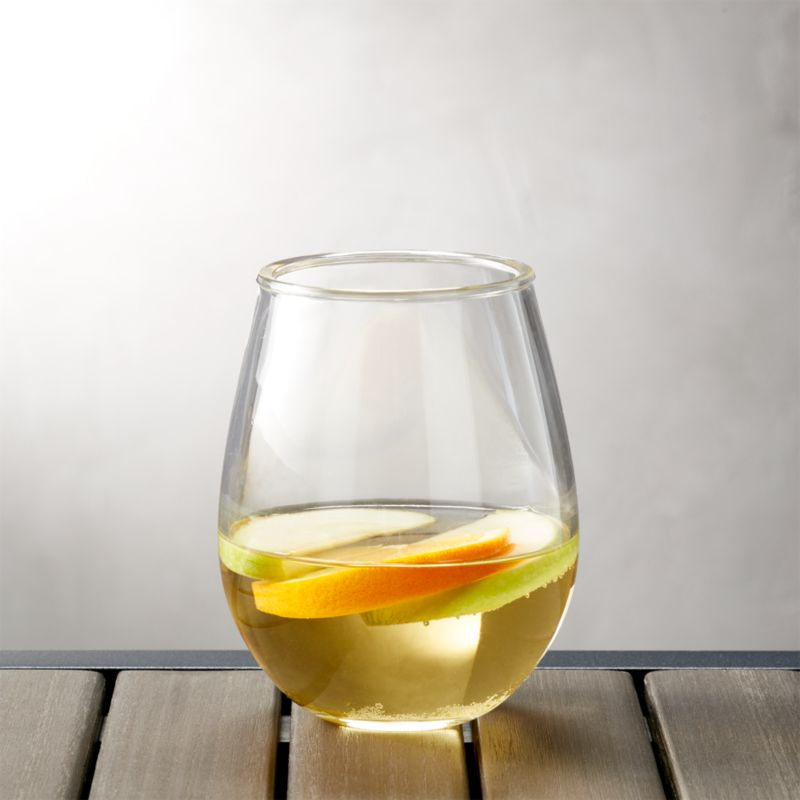Acrylic Stemless Wine Glass Crate And Barrel