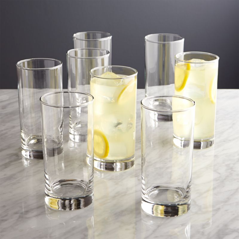 Boxed Highball Glasses Set Of 8 Crate And Barrel