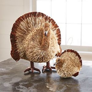 Home Accessories  Accents and Decor   Crate and Barrel Buri Turkeys