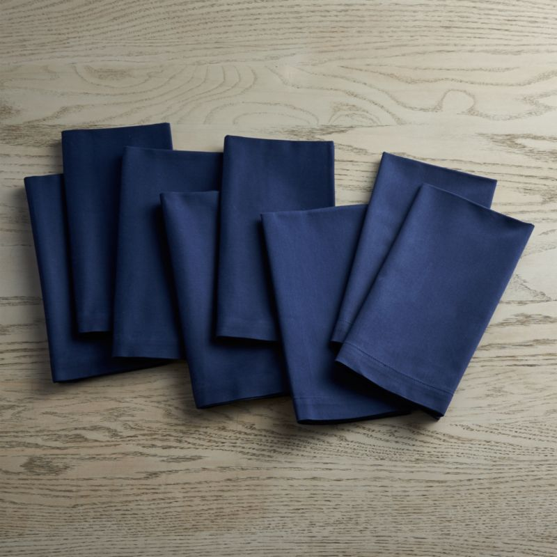 Fete Navy Blue Cloth Napkins Set Of Eight Crate And Barrel