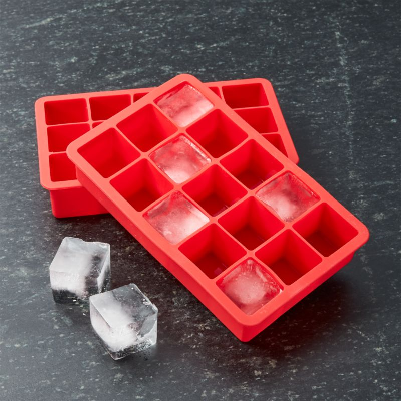 Red Ice Cube Trays Set Of Two Reviews Crate And Barrel