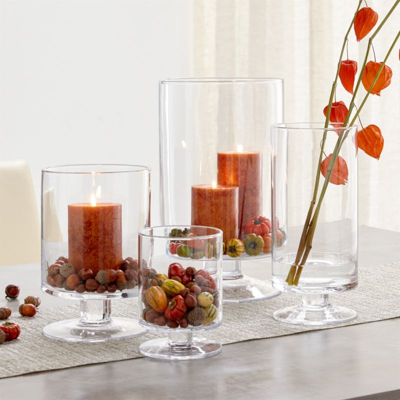 London Glass Hurricane Candle Holders Crate And Barrel