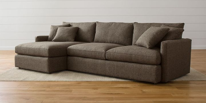 Sale  Sectional Sofas  Leather and Fabric   Crate and Barrel Lounge II Sectional Sofas