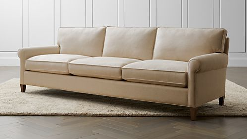 Sofas  Couches and Loveseats on Sale   Crate and Barrel Montclair 103  Grande Roll Arm Sofa