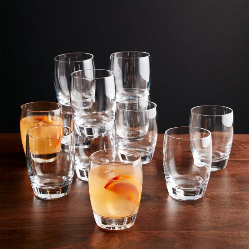 Set Of 12 Otis Double Old Fashioned Glasses Crate And Barrel