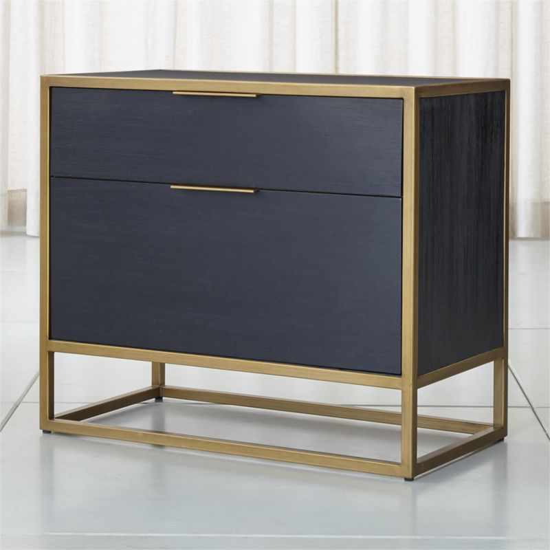 Oxford Black Lateral File Cabinet Reviews Crate And Barrel