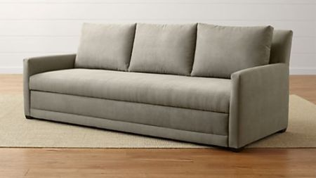 Sofa Beds and Sleeper Sofas  Save 20    Crate and Barrel Reston Queen Trundle Sleeper Sofa