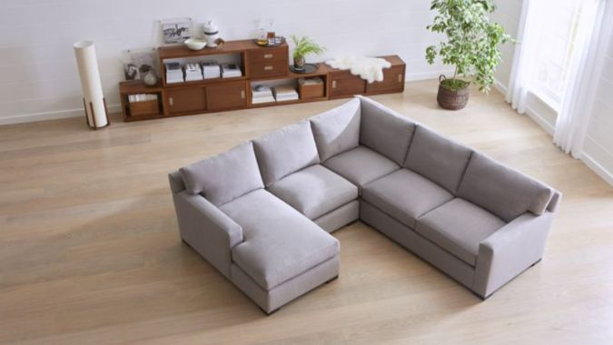 Sale  Sectional Sofas  Leather and Fabric   Crate and Barrel