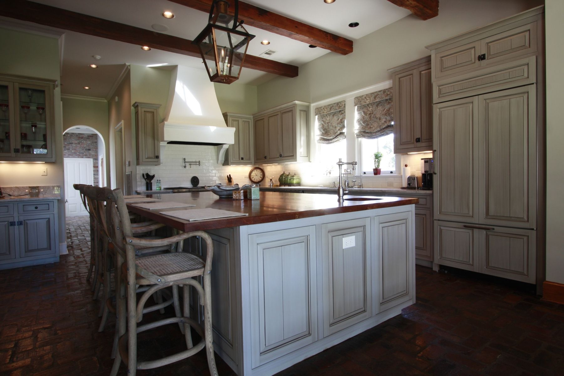 Handmade Custom Kitchen With Glazed Cabinets By Northshore