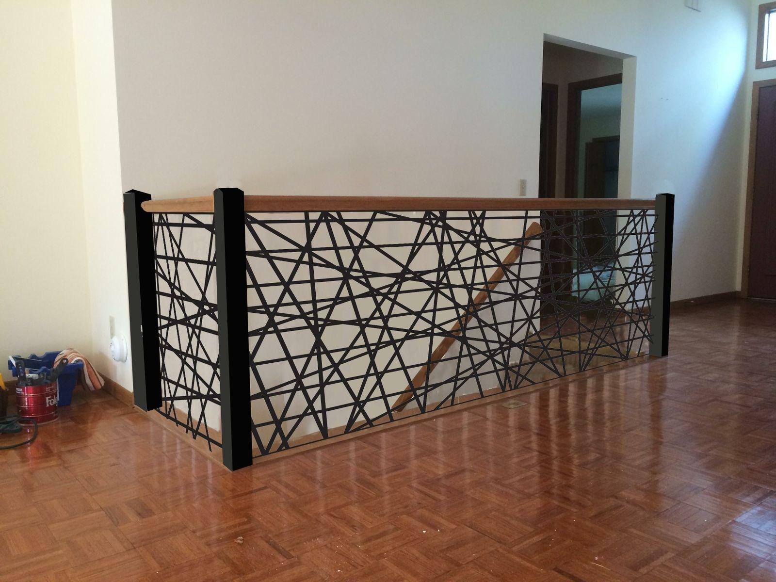 Handmade Custom Metal Stair Railings By Aesthetic Metals Inc   Custom Iron Stair Railing   Residential   French   Metal   Banister   Iron Work