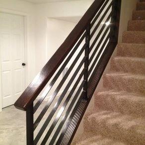 Custom Railings And Handrails Custommade Com | Tubular Stair Railings Design | Simple | Grill Work | Residential Industrial Stair | Welded | Stair Case Railing