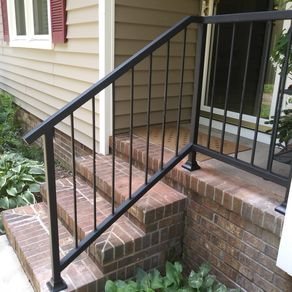Custom Railings And Handrails Custommade Com   Exterior Wrought Iron Railing Cost   Iron Stair Railings   Metal   Staircase   Stainless Steel   Deck Railing