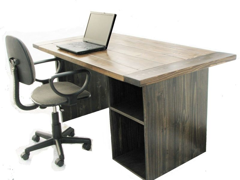 Hand Made Farmhouse Style Office Desk by Custom Made Furniture     Custom Made Farmhouse Style Office Desk