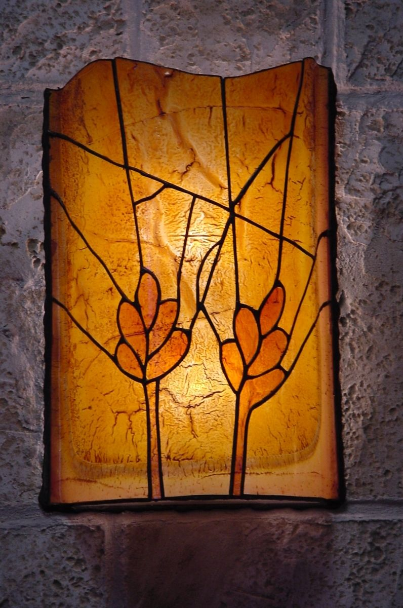 Handmade Stained Glass Sconce By Shak 250 Ff Custommade Com