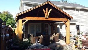 Hand Crafted Cedar Craftsman Patio Cover Kit By Bird Boyz