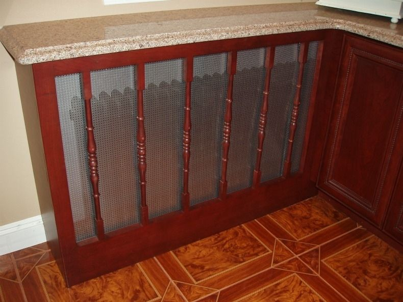 Hand Crafted Kitchen Cabinet Install With Custom Radiator