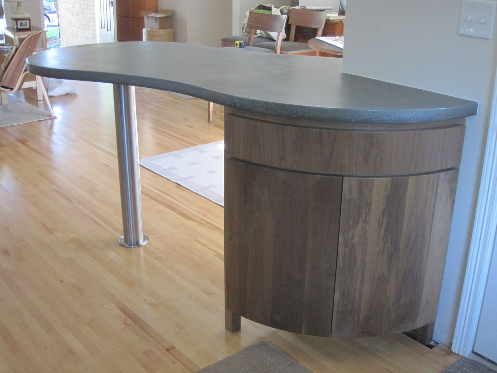 Best Kitchen Gallery: Hand Crafted Curved Kitchen Island Cabi By Mcguire Woodworking of Curved Kitchen Cabinets on rachelxblog.com