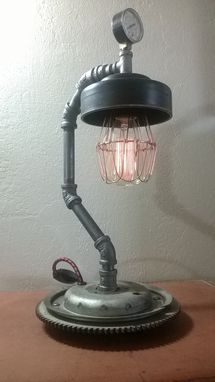 Custom Made Upcycled Automotive Parts Lamp By Retro Steam