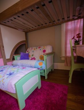 Handmade Girl S Twin Loft Bunk Bed With Stairs Futon
