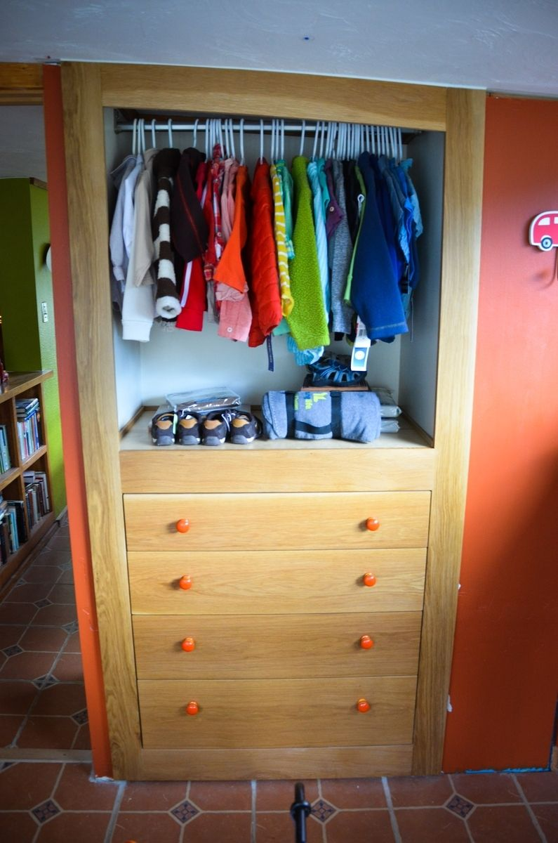 Hand Made Built In Dresser And Closet Before And After By