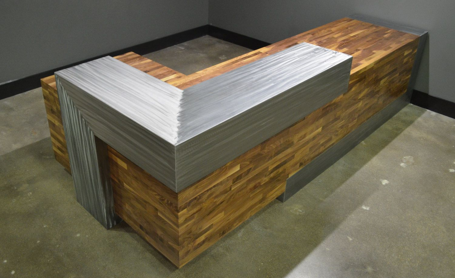 Buy A Hand Crafted Modern Reception Desk Made To Order