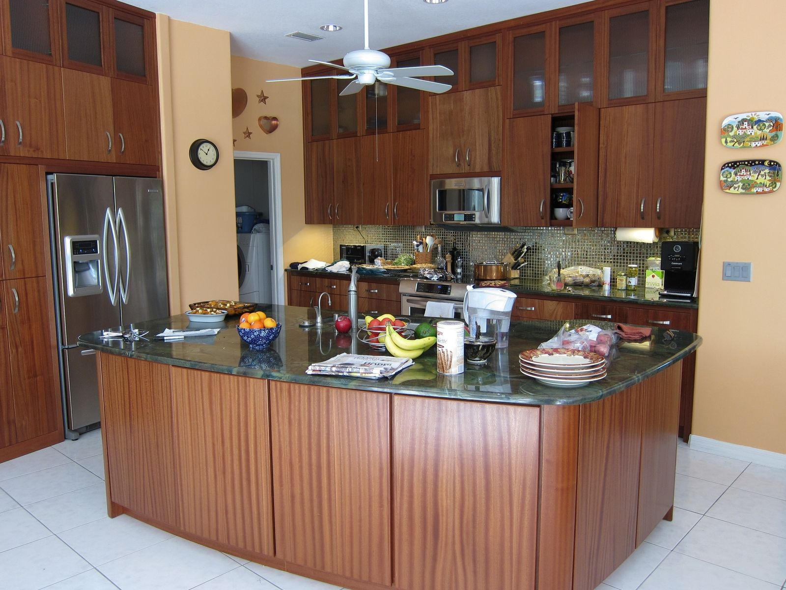 Best Kitchen Gallery: Sapele Wood Kitchen Cabi S Redglobalmx Org of Sapele Flat Panel Kitchen Cabinets on cal-ite.com
