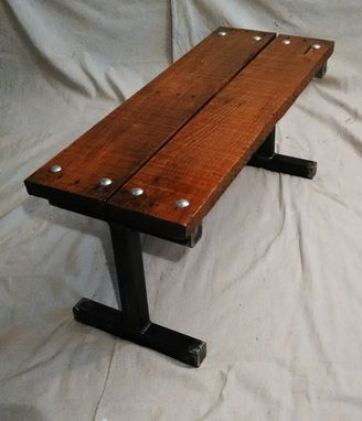 Buy A Handmade Reclaimed Pallet Wood Bench With Carriage