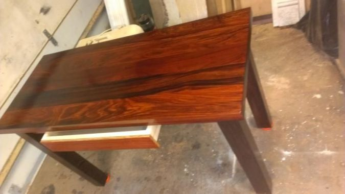 Buy a Hand Crafted Wenge And Cocobolo Writing Desk  made to order     Buy a Hand Crafted Wenge And Cocobolo Writing Desk  made to order from  Fearons Fine Woodworking   CustomMade com