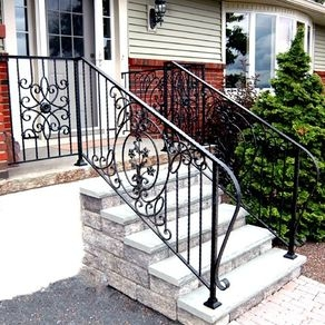 Custom Railings And Handrails Custommade Com | Wrought Iron Stair Railing Near Me | Steel | Spindles | Wood | Front Porch Railings | Stair Spindles