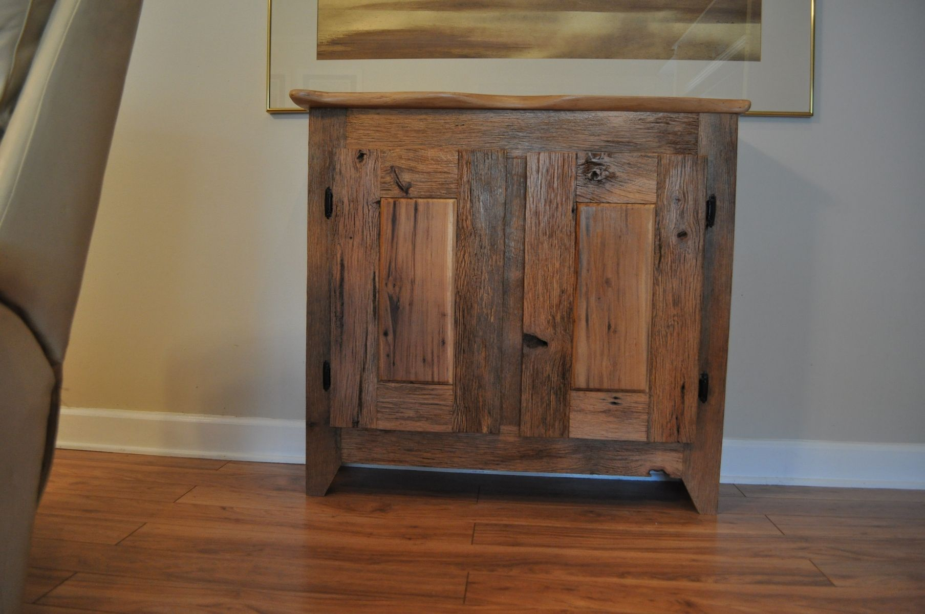 Hand Crafted Custom Made Barn Wood Cabinet By Splinters N