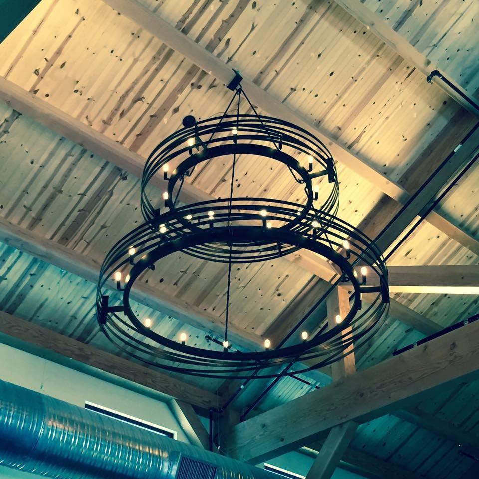 Hand Made Large Steel Industrial Chandelier By Wanderlust
