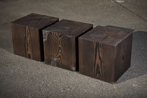 Hand Crafted Solid Wood Cube Table By A R Busch