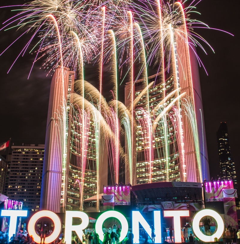 9 best cities to spend New Year s Eve in Canada   Daily Hive Toronto nathan phillips square fireworks toronto