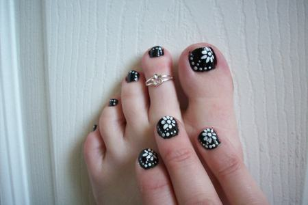Flower Nail Art Toes Path Decorations Pictures Full Path Decoration