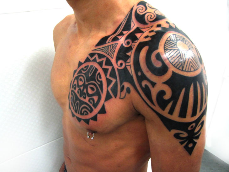 Polynesian Scorpion Tattoo