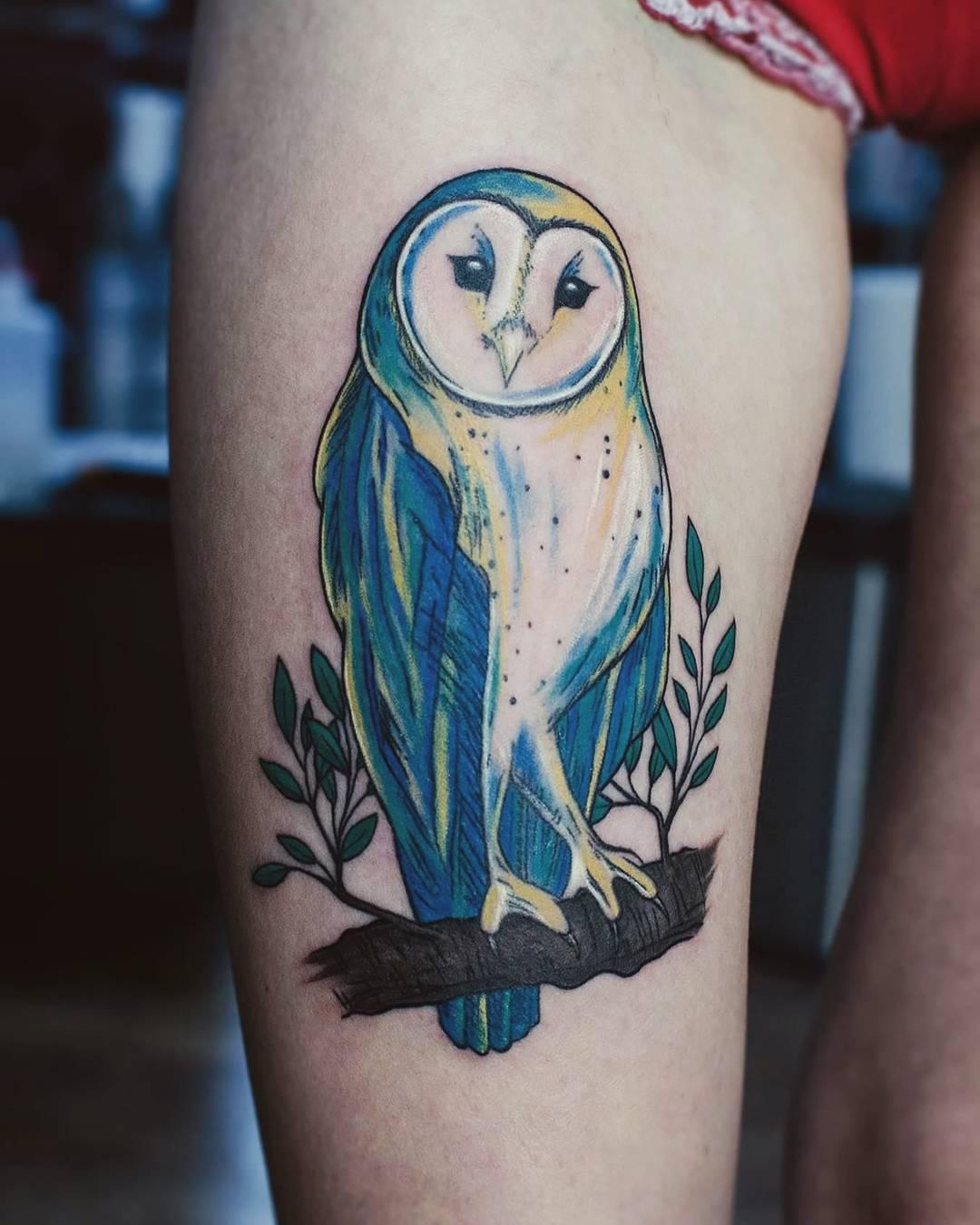 barn owl tattoo - 768×960