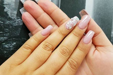 Pretty Baby Pink Acrylic Nails Hd Images Wallpaper For Downloads