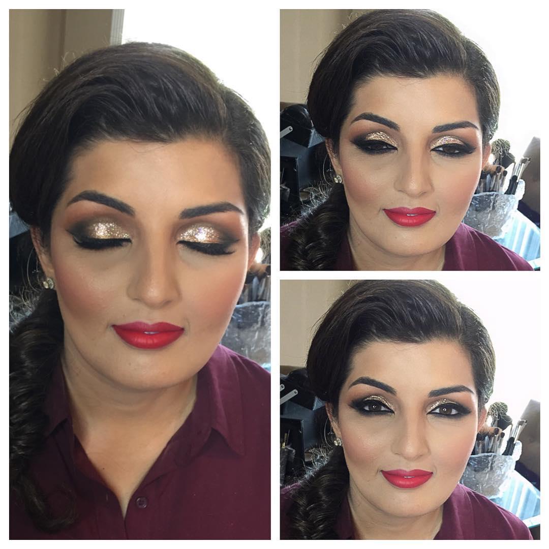 Pretty Gold Makeup Ideas