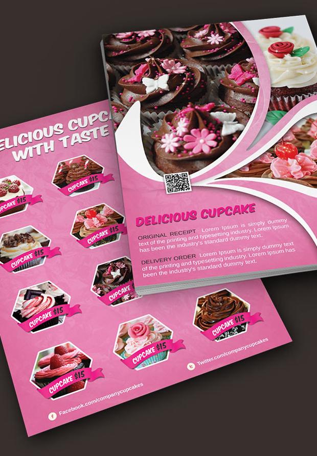 25 Cupcake Flyer Design Psd Download Design Trends