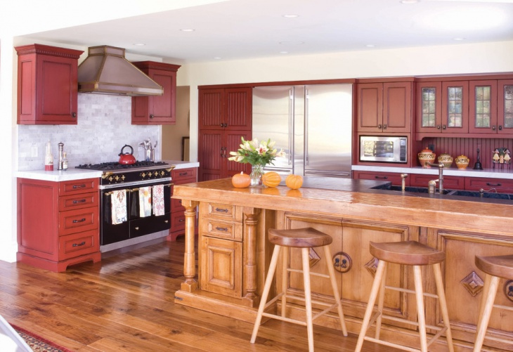 20 Red Oak Kitchen Cabinets Designs Design Trends